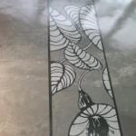 wzór kwiaty szablon