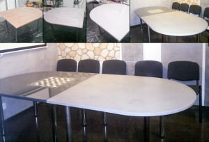 Stół pokryty powłoką cementową Terra Fresco