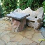 Sztuczne skałuy - mała architektura.Barwniki  Stone Tone Stain, polimerowe Rembrandt. Clear A Thane. Wykonawca Magic Art sztuczne skały – e mail finisznamur@wp.pl