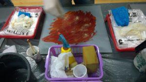 brokatowy dodatek do barwników polimerowych